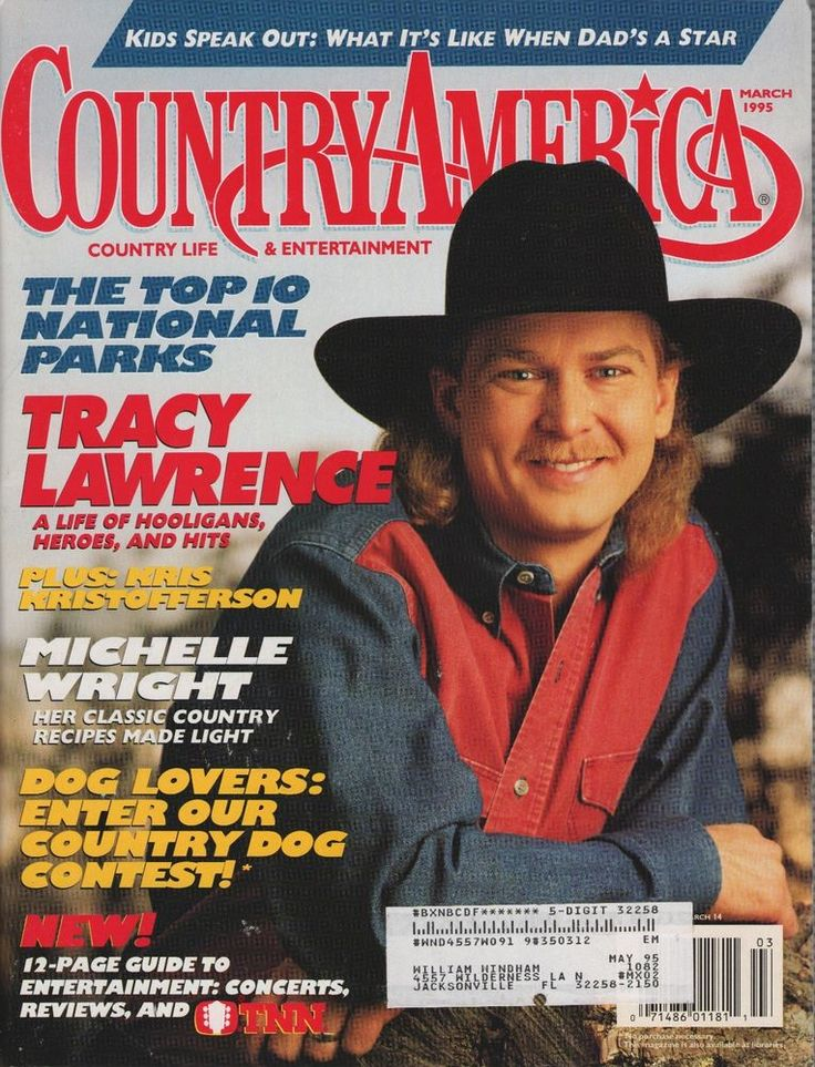 Country America Magazine March 1995, Tracy Lawrence, Kris Kristofferson, + more