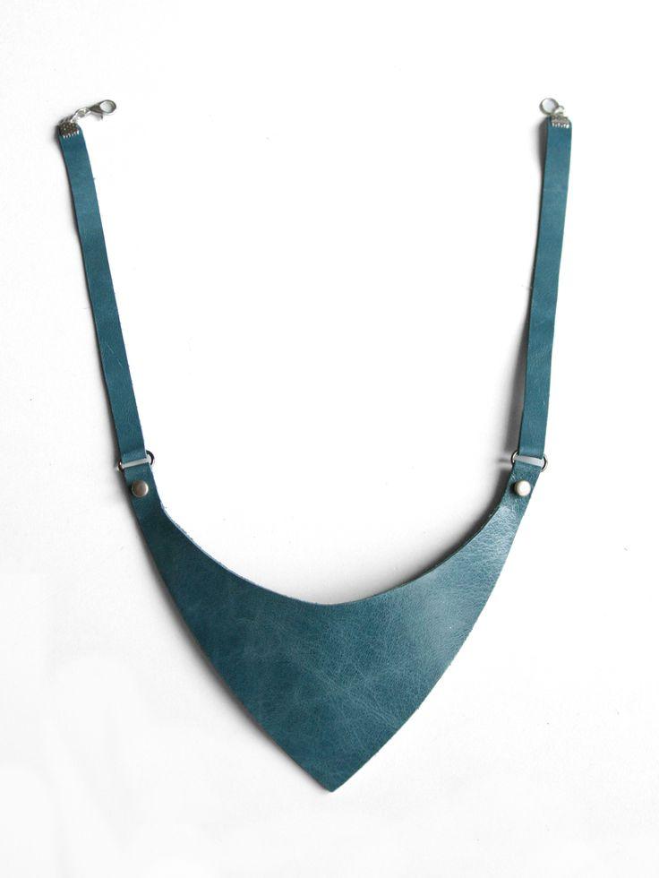 Leather necklace by Mihaela Zvinca