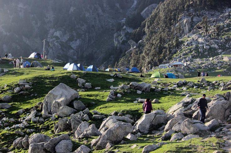 Trekkers tent at Triund top