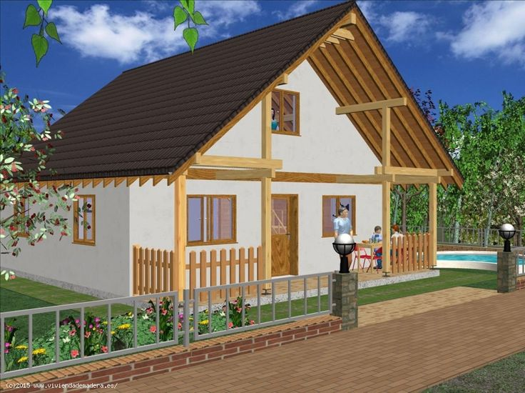 Viviendas de Madera - Casas de Madera - Ref Casa prefabricada 157,03 m², Precio 59.471,80€, IVA, montaje y la cimentación incluido !
