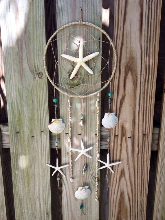 Seashell Dreamcatcher by SeaPrintzessDesigns on Etsy, $50.00