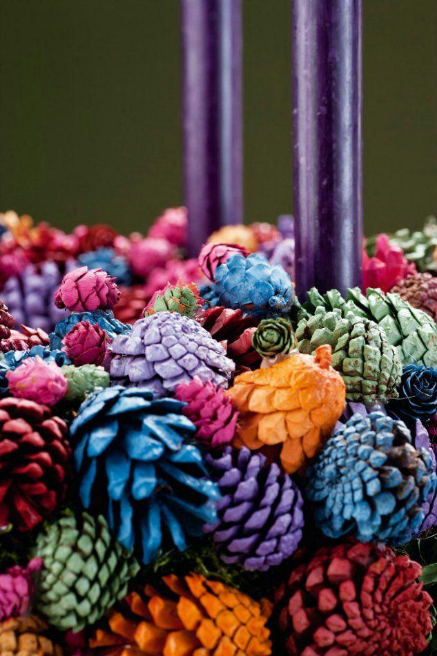 Paint pine cones- fun Fall art for kids