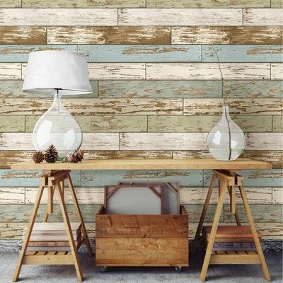 Old Salem Vintage Wood Peel And Stick Vinyl Strippable Wallpaper Covers 30 75 Sq Ft In 2020 Wood Wall Design Wood Feature Wall Stick On Wood Wall