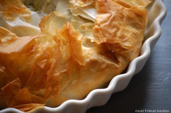 Snelle hartige taart met spinazie van Jamie Oliver - Onze Franse keuken