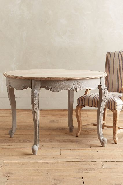 Cabriole Dining Table Round Home Vintage And Anthropologie