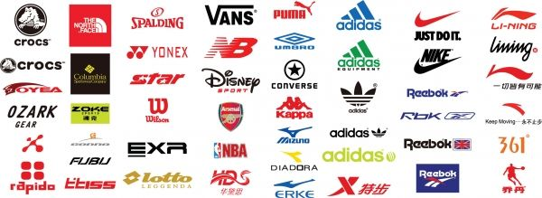 有名スポーツ用品ブランド ロゴ sports brand logo vector