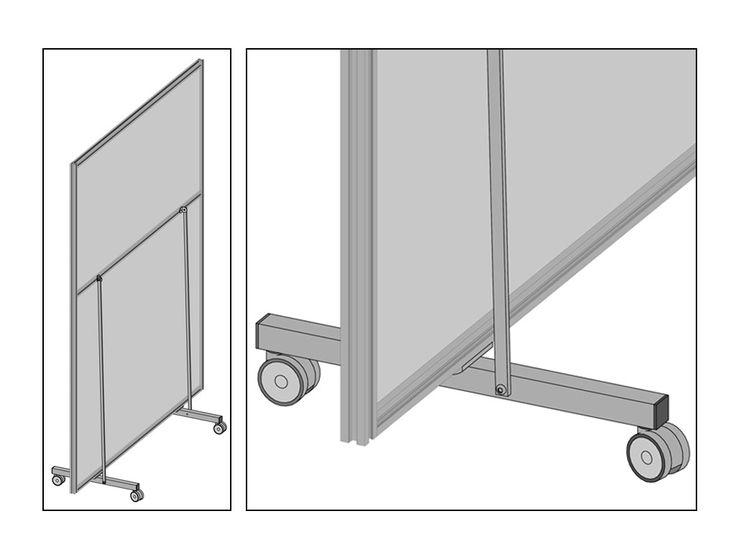 MACRO VELA - Pannelli divisori, pareti mobili, separè su ruote, schermi flessibili, progettazione, produzione e vendita - Clipper System #pannello #openspace #industria