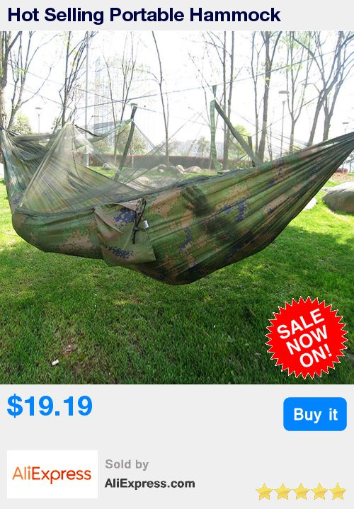 Hot Selling Portable Hammock Single-person Folded Into The Pouch Mosquito Net Hammock Hanging Bed For Travel Kits Camping Hiking * Pub Date: 23:13 Sep 14 2017