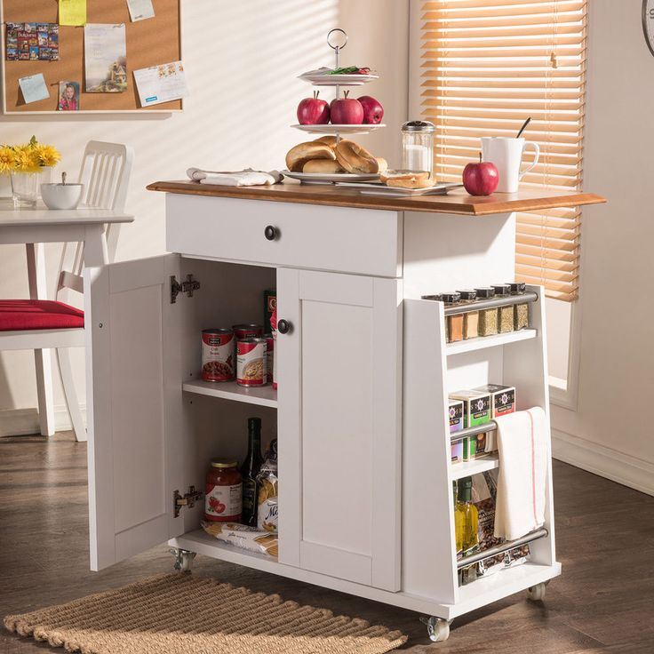 Kitchen Carts And Islands Appliance Storage Cabinets For Kitchen White Utility