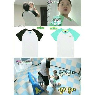 Instagram photo by song.triplets - SIK and his little triplets wore the same T-shirt in ep 35 from Sesame Street - Basic Raglan Logo Tee. Price: KRW 24,900 (adult size) KRW 19,900 (kids size). Thanks to @tilekova for the info ^^ #thereturnofsuperman #supermanreturns #varietyshow #tvshow #toddler #supermanisback #songilkook #korean #songtriplets #songtripletslifestyle #daehan #minguk #manse #daehanmingukmanse #송일국 #슈퍼맨이돌아왔다 #대한#민국#만세 #대한민국만세