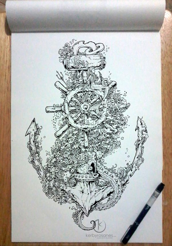 by Kerby Rosanes | Doodle & Drawing