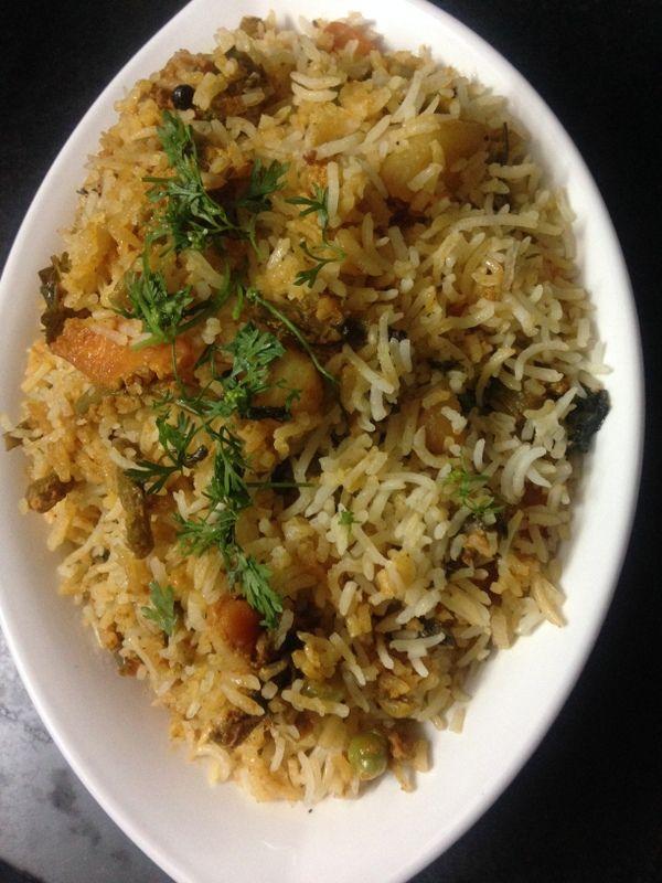 Hyderabadi veg dum biryani recipe is another authentic veg biryani recipe totally in dum style from hyderabadi cuisine cooking in our traditional dum method. #ricerecipes #indianrecipes #vegrecipes #food #vegetarian #lunch #dinnerideas