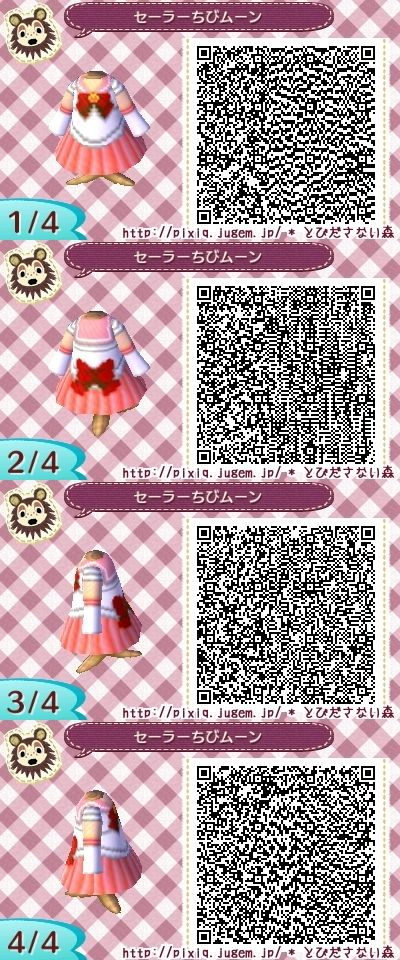 SAILOR MOON. MINI MOON. ANIMAL CROSSING NEW LEAF. QR CODE. ACNL