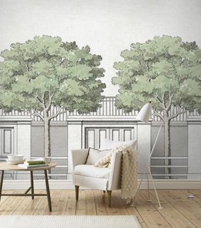 Carlbergs träd - tree wallpaper mural - by Sandberg