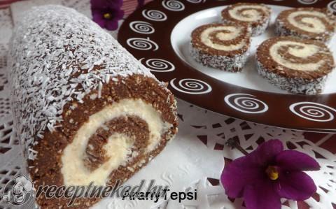 Egyszerű keksztekercs recept fotóval