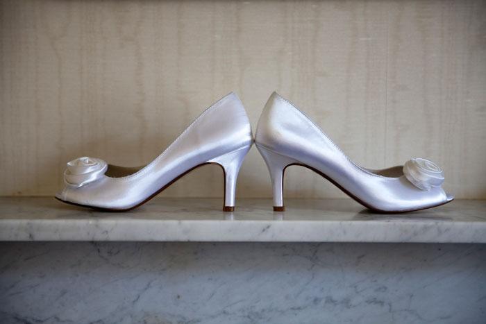 Sarah's silver shoes