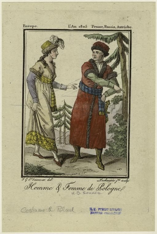 Grasset de Saint-Sauveur, Jacques, Homme & femme de Pologne. 1805