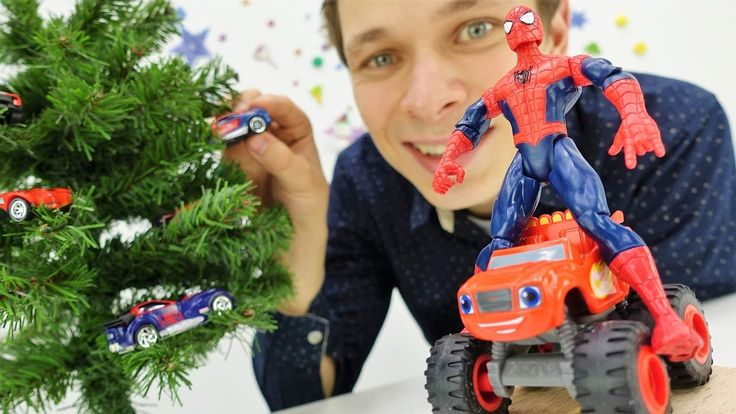 Машинки для мальчиков, Вспыш: смотреть видео про игрушки. Человек Паук и...