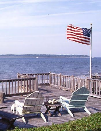 : At The Beaches, American Flags Decor, Blessed America, American Style, American Flag Decor, American Summer, Beaches Houses, Ocean View, Blue American