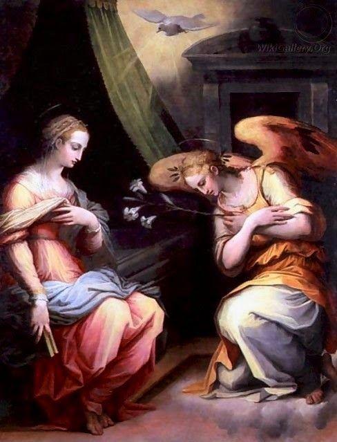 El Arcángel Gabriel es el ángel de la Anunciación.    Esta representado con lirios, símbolo de la Virgen María   o con una trompeta, ...