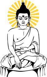 thai buddha statue sticker by fantastick wall art #fantastick #onyourwall #wallart #sticker #home #deco