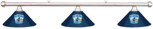 NBA New Orleans Hornets Blue Metal Shade & Chrome (Grey) Bar Billiard Pool Table Light