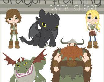 Comment former votre Dragon numérique Clip Art ensemble - particuliers et entreprises - édenté, hoquet, Astrid, Stoick, Grockle