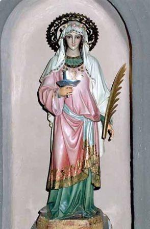 13 de Diciembre / Año: †304 / Lugar: Siracusa, Provincia Romana de Sicilia, Italia / Aparición de Santa Águeda a Santa Lucía de Siracusa, Virgen y Mártir (~283 – †304).