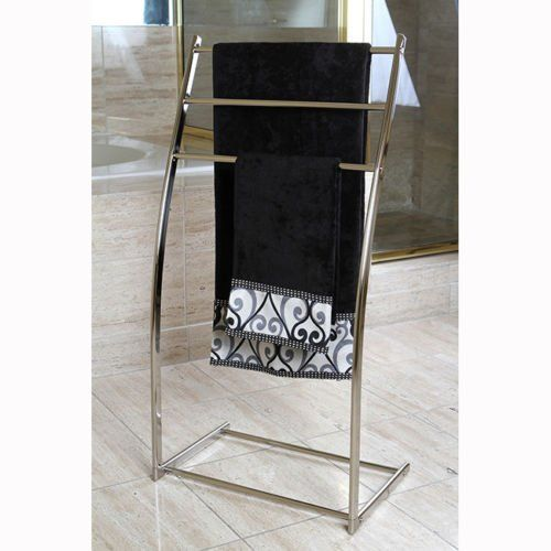 Brass Edenscape Free Standing Towel Rack Satin Nickel, 2015 Amazon Top Rated Towel Stands #Home