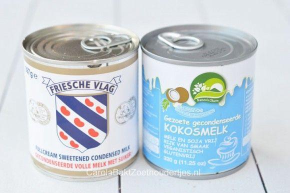 gecondenseerde melk vs gecondenseerde kokosmelk