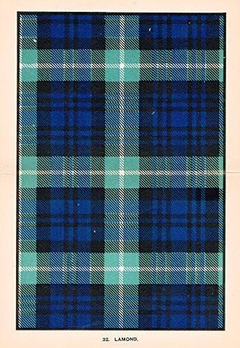 "Johnston's Scottish Tartans - ""LAMOND"" - Chromolithograph - c1899"