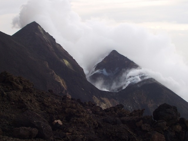 Stromboli volcano crater, Italy