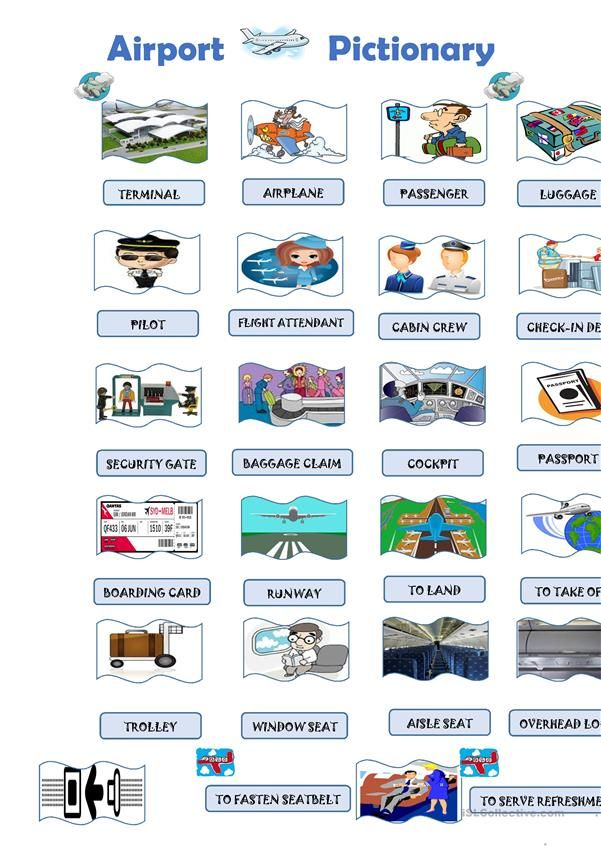 Airport Pictionary Better english, English vocabulary