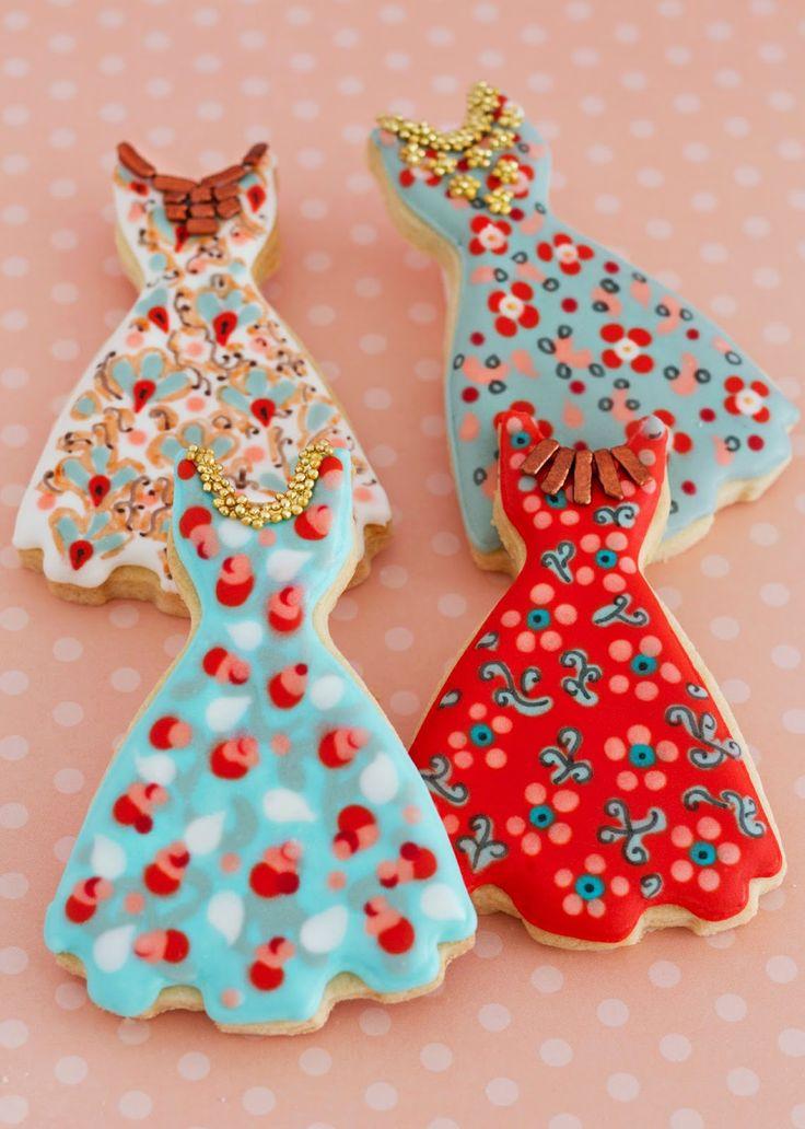 Galletas decoradas vestidos Patricia Arribálzaga