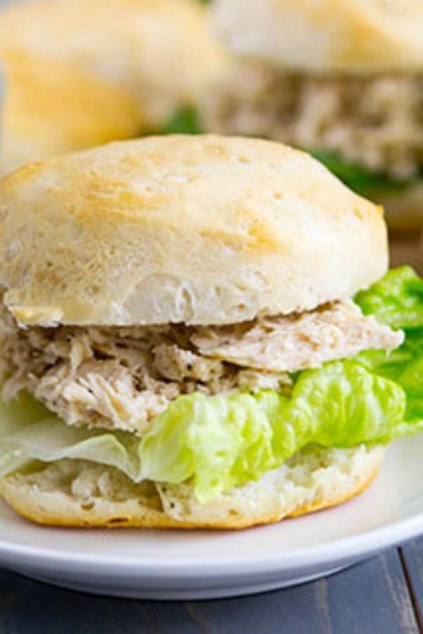 Chicken Caesar sammies from your slow-cooker!
