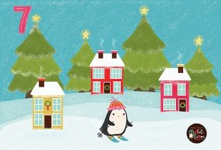 FlossieandFig: A Little Penguin Skiing - Advent Day 7