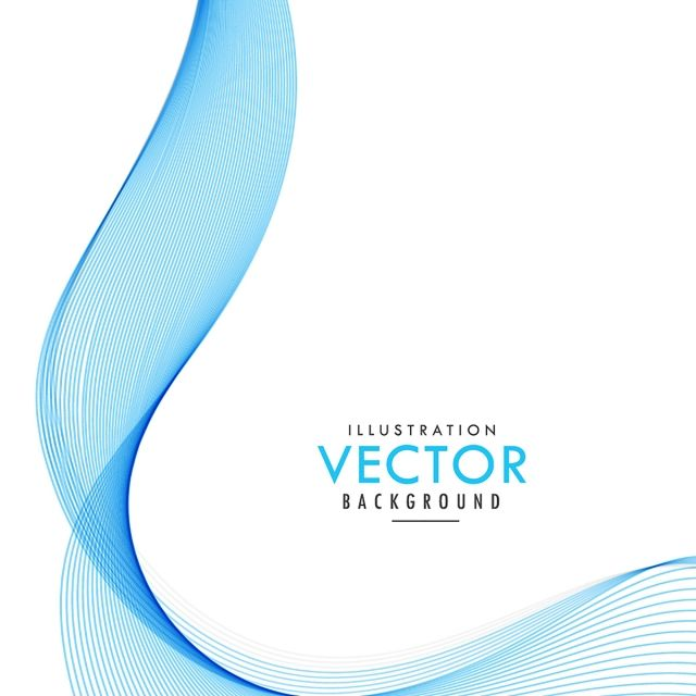 Blue Wavy Background Fashion Atmosphere Simple Png And Vector