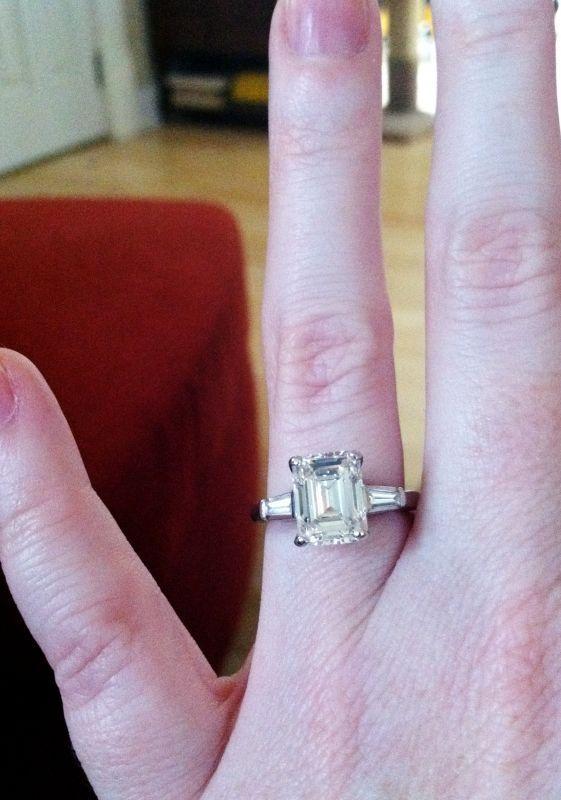 2 5 Carat Emerald Cut Diamond Center Stone Perfection