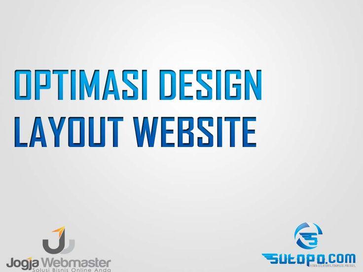Belajar SEO - optimasi design website wordpress blogspot
