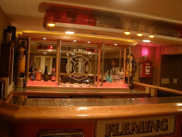 Another shot of the bar  Fire RoomFF Man Cave Ideas