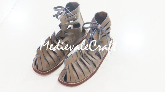 9fac90cdb979 MedievaleCraft Custom Roman Leather Caligae Viking Sandals