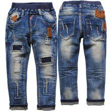 3760 regular de mezclilla suave niños niños niñas niños pantalones vaqueros de la primavera otoño azul marino no se desvanecen pantalones casuales pantalones(China (Mainland))