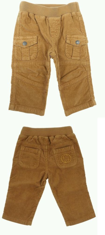 44a5a661b Bottoms 57793: Nwt New Gucci Baby Boys Camel Brown Corduroy Pants  Embroidered Logo 9 12 18 24M -> BUY IT NOW ONLY: $72 on eBay!
