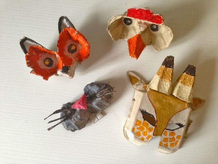 Maschere realizzate con i cartoni delle uova http://mangialeggicrea.blogspot.ch/2015/02/maschere-di-carnevale-con-il-cartone.html