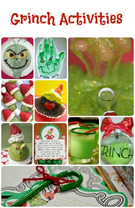 Grinch Activities for Kids...fun ideas for Grinch Play Date, Grinch Family Night, or school Grinch theme