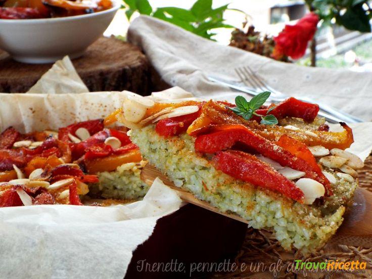 Frittata di riso al pesto con peperoni gratinati  #ricette #food #recipes