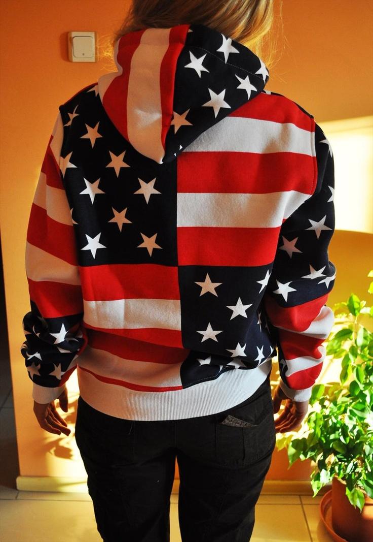 American Flag Hooded Sweatshirt | polydoros | ASOS Marketplace
