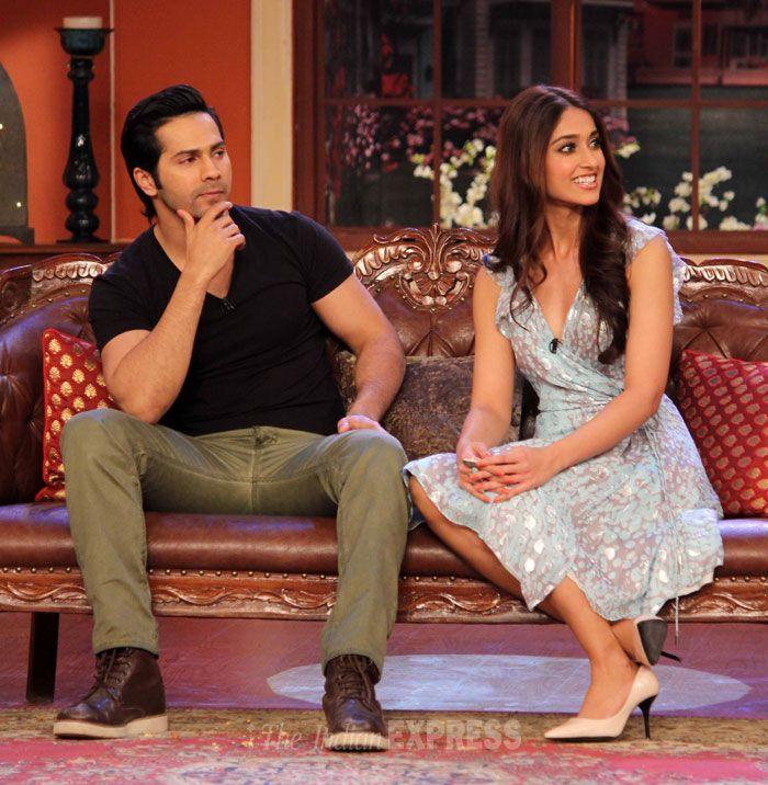 Varun Dhawan and co-star Ileana D'Cruz on 'Comedy nights with Kapil' to promote 'Main Tera Hero'. #Style #Bollywood #Fashion #Beauty