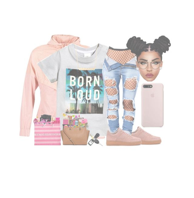 """""""Black Friday shopping"""" by princessaesthetic ❤ liked on Polyvore featuring NIKE, H&M, Victoria's Secret, Linda Farrow and Jennifer Zeuner"""
