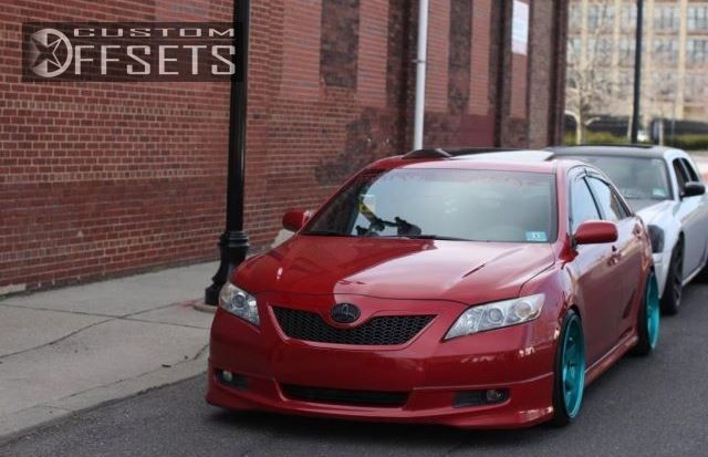 Wheel Offset 2007 Toyota Camry Aggressive 1 Outside Fender Dropped 3 Custom Rims